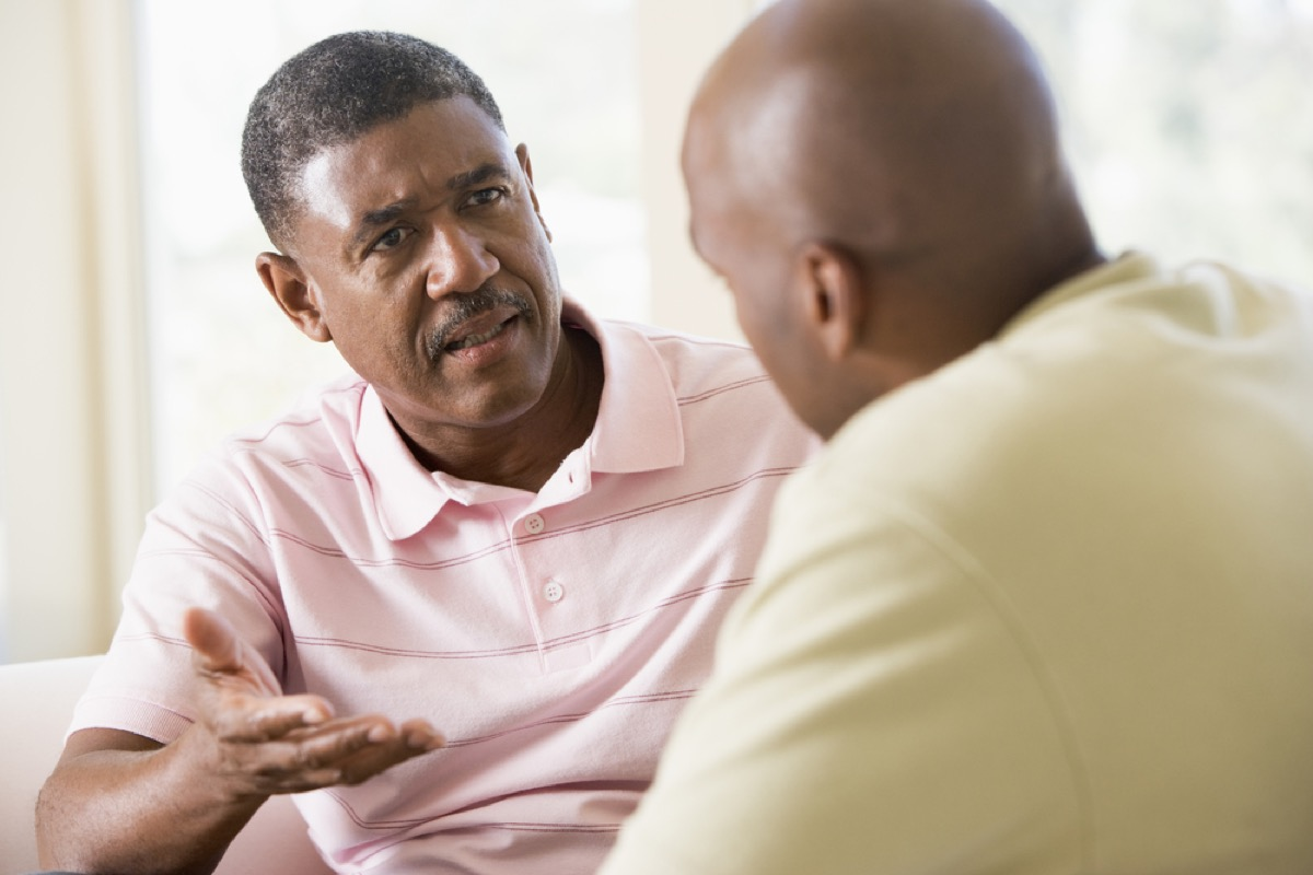 man arguing with friend or boyfriend, things you should never say to your spouse