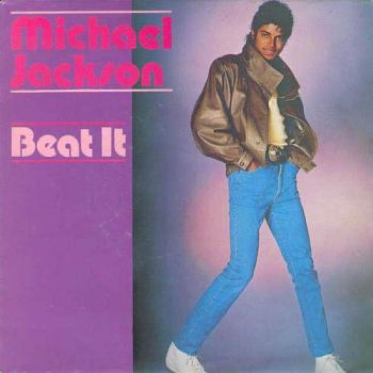 michael jackson beat it single cover