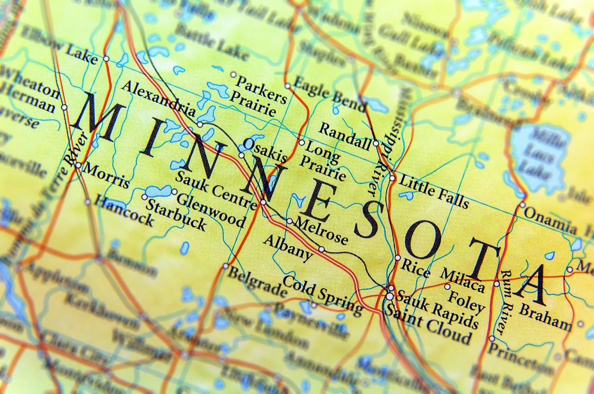 minnesota geographical map state natural wonders