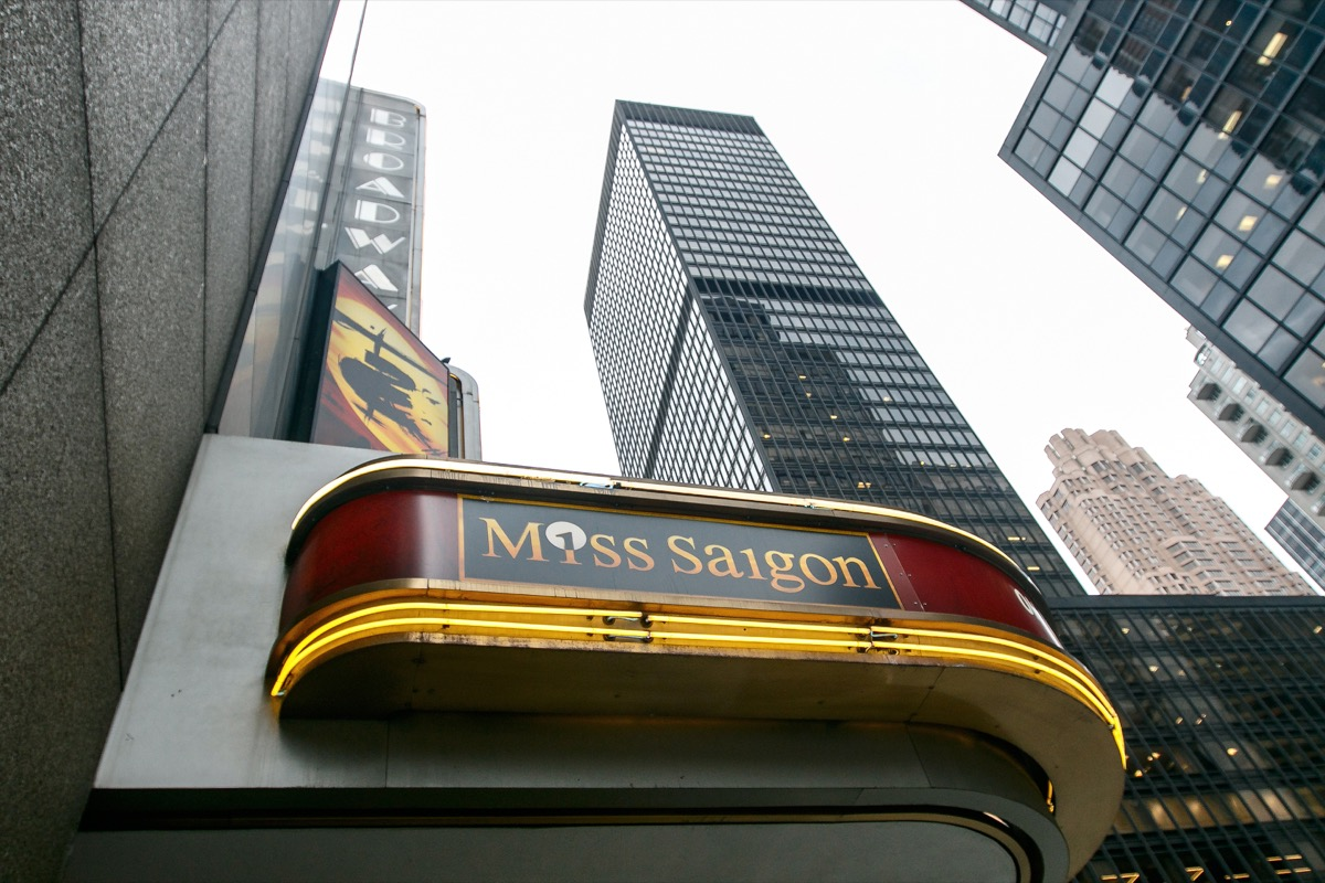 miss saigon broadway sign, broadway tickets