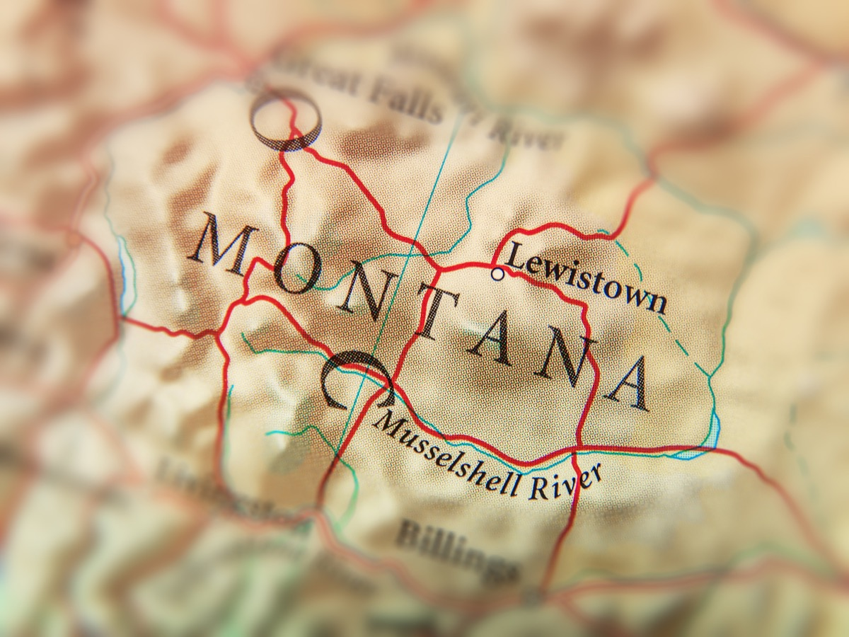montana geographical map state natural wonders