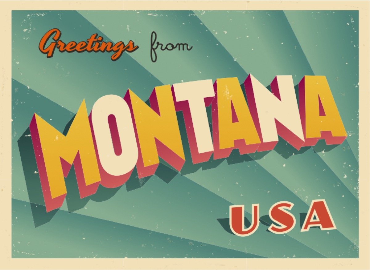 montana postcard famous state statues