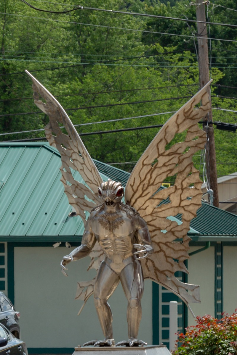 mothman statue west virginia famous state statues