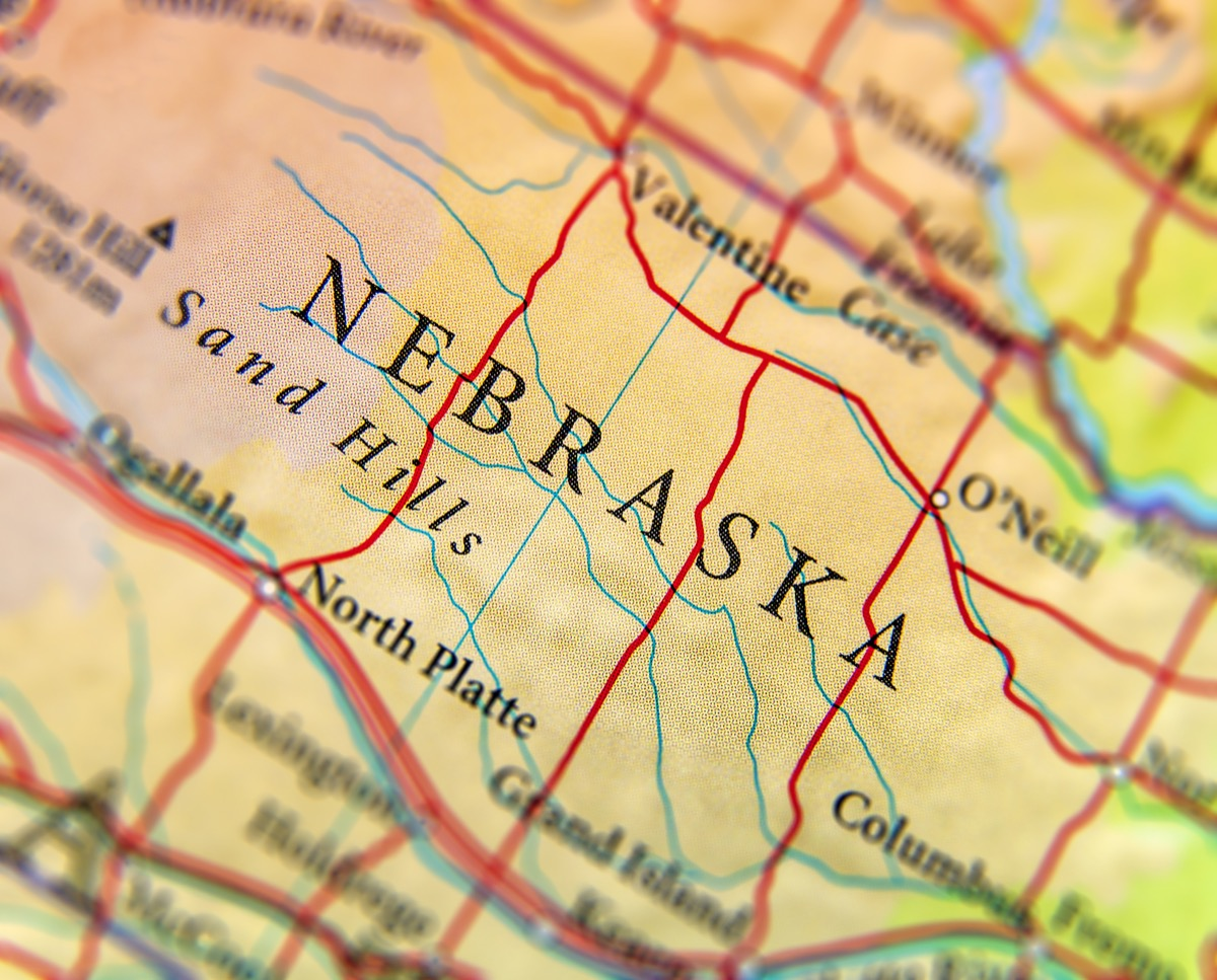 nebraska geographical map state natural wonders