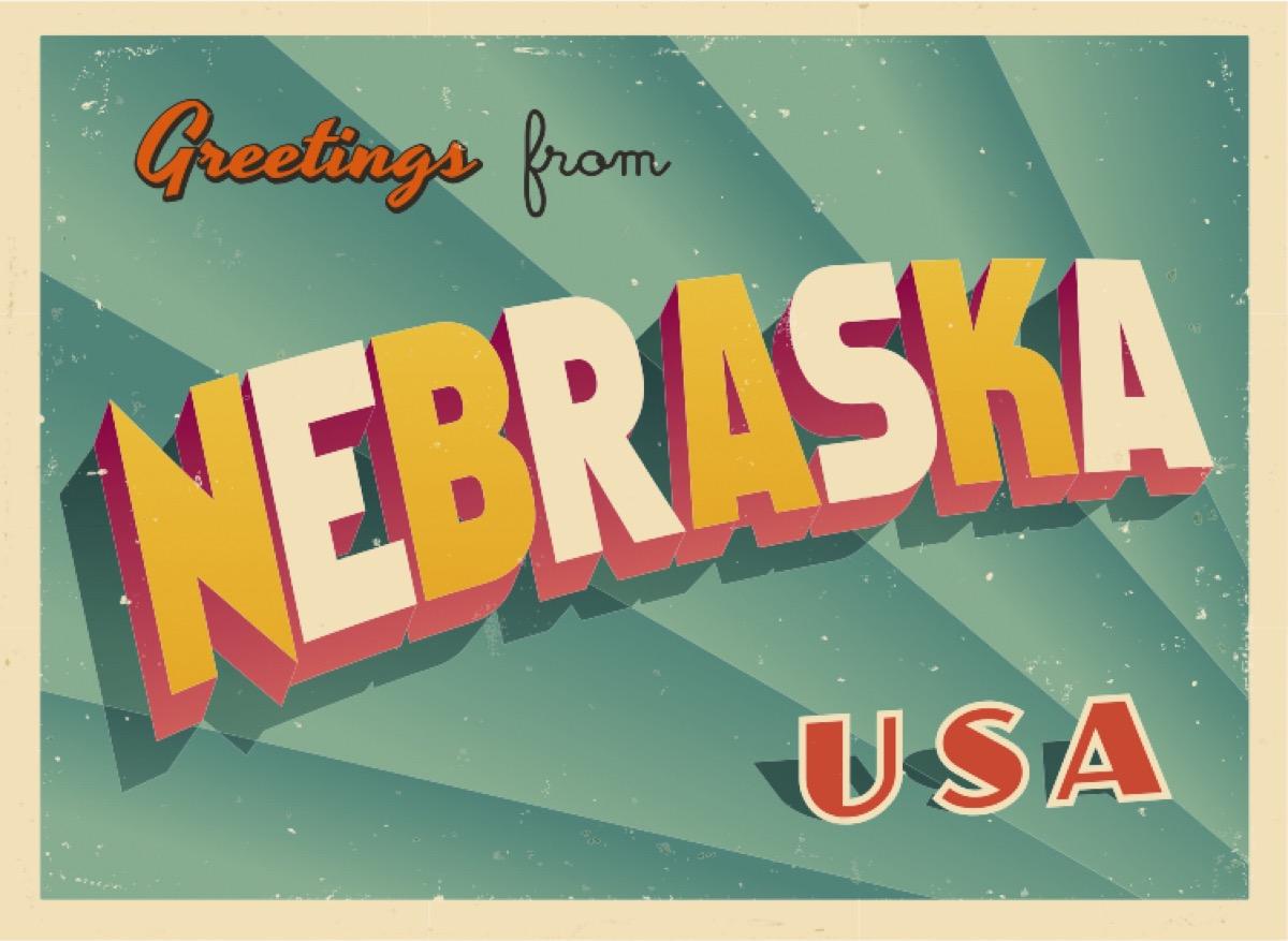 nebraska postcard famous state statues