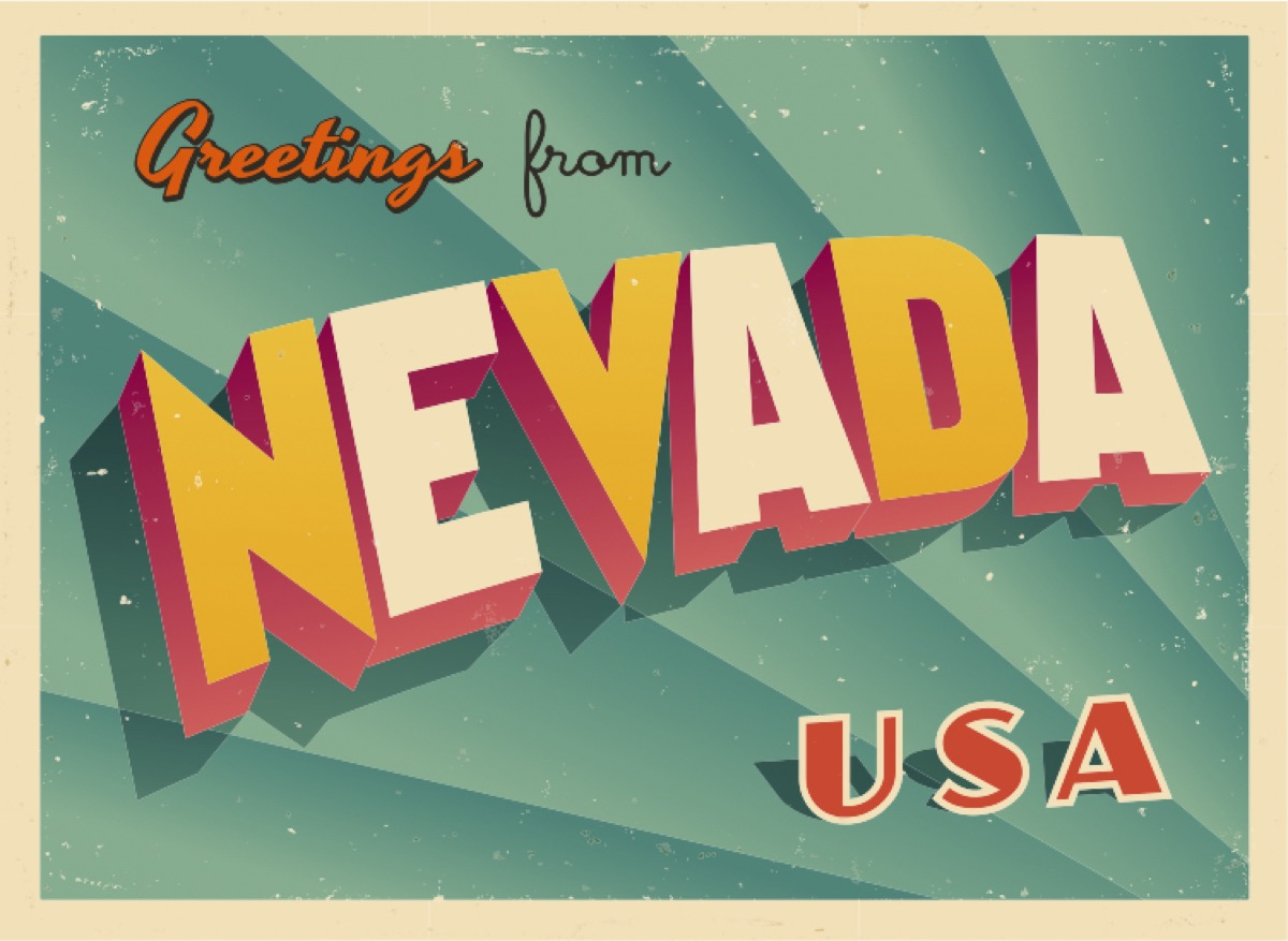 nevada postcard famous state statues