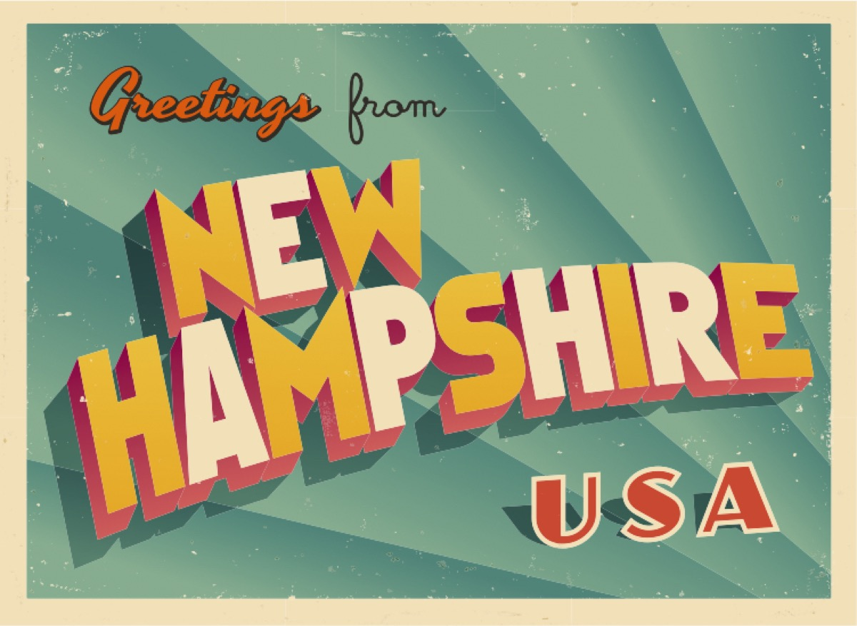 new hampshire postcard famous state statues