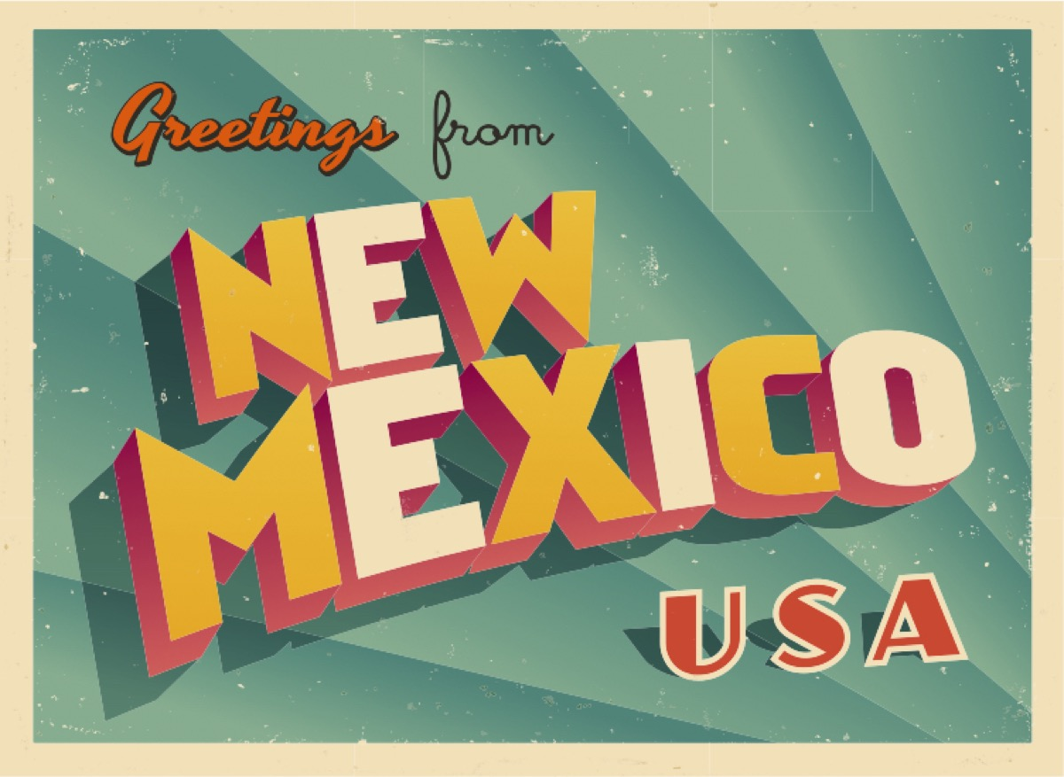 new mexico postcard famous state statues