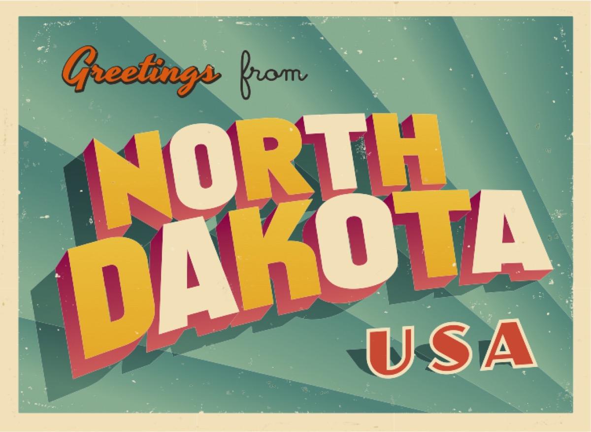 north dakota postcard famous state statues