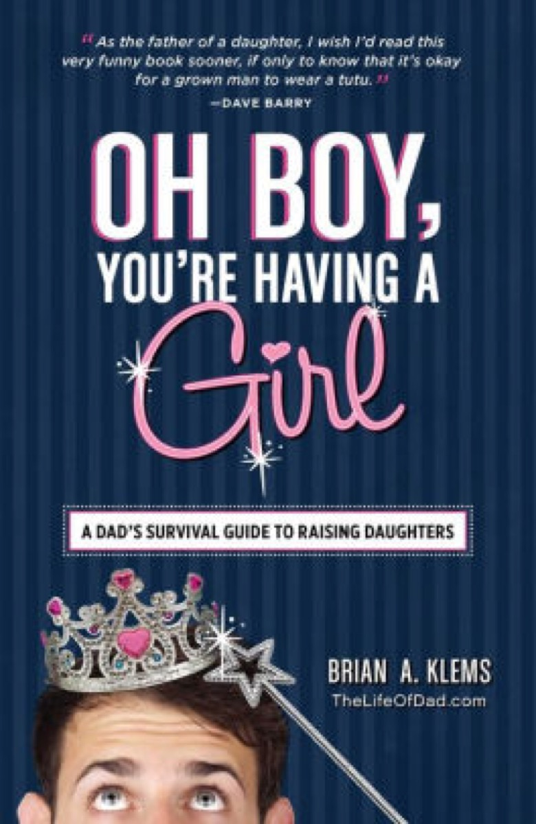oh boy you're having a girl book cover, father quotes