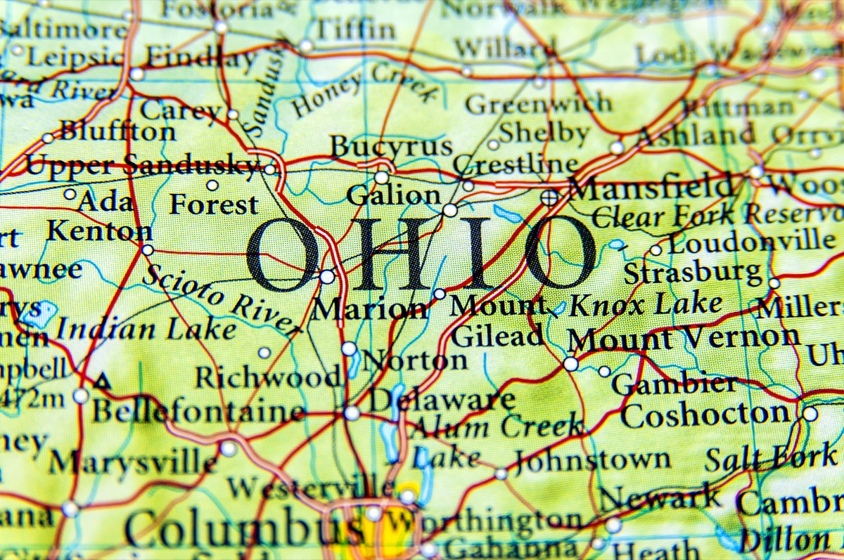 ohio geographical map state natural wonders