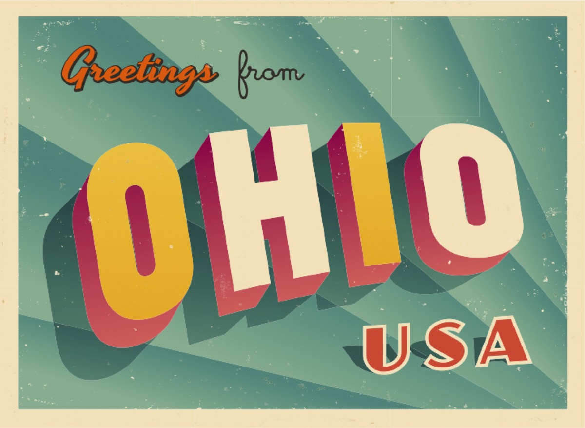 ohio postcard famous state statues
