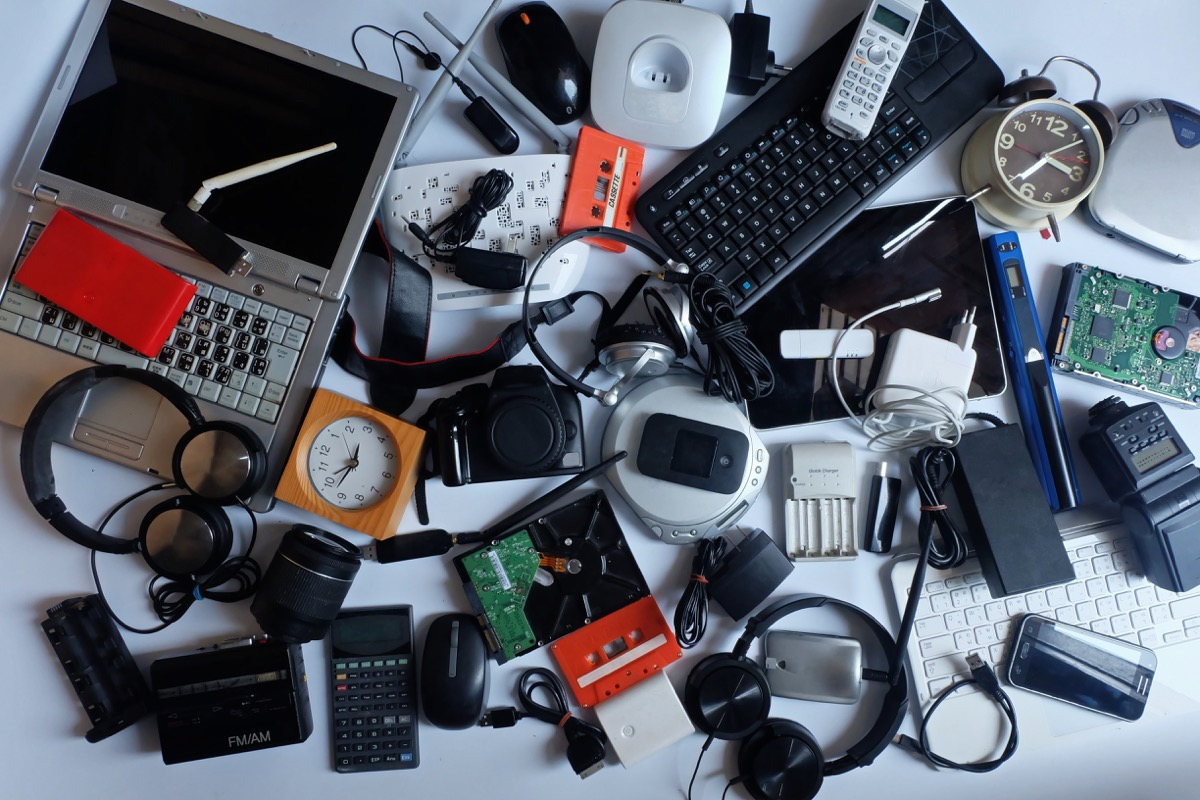 old electronics toss these things from your house for instant happiness