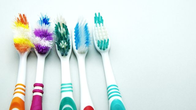 old toothbrushes