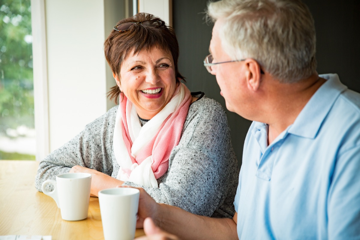 older couple on date together, long marriage tips