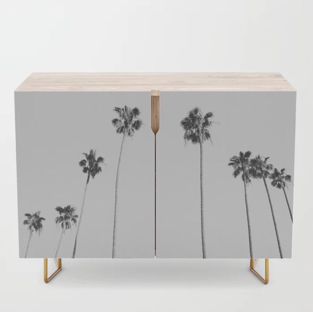 Society6 Palm Tree Credenza Storage Furniture