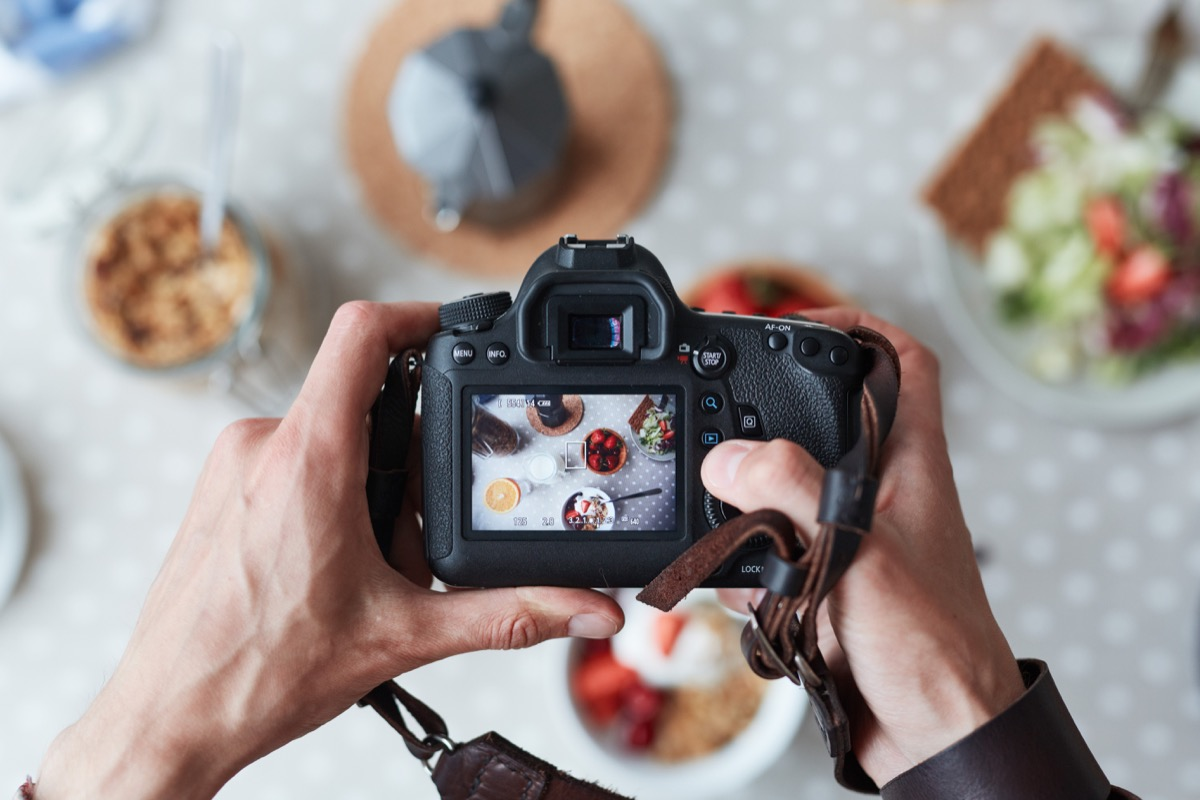Photographer Taking a Picture of Food Unique College Courses