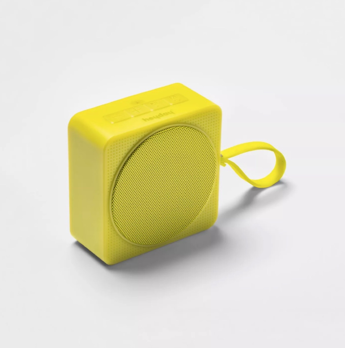 yellow portable speaker, summer party essentials