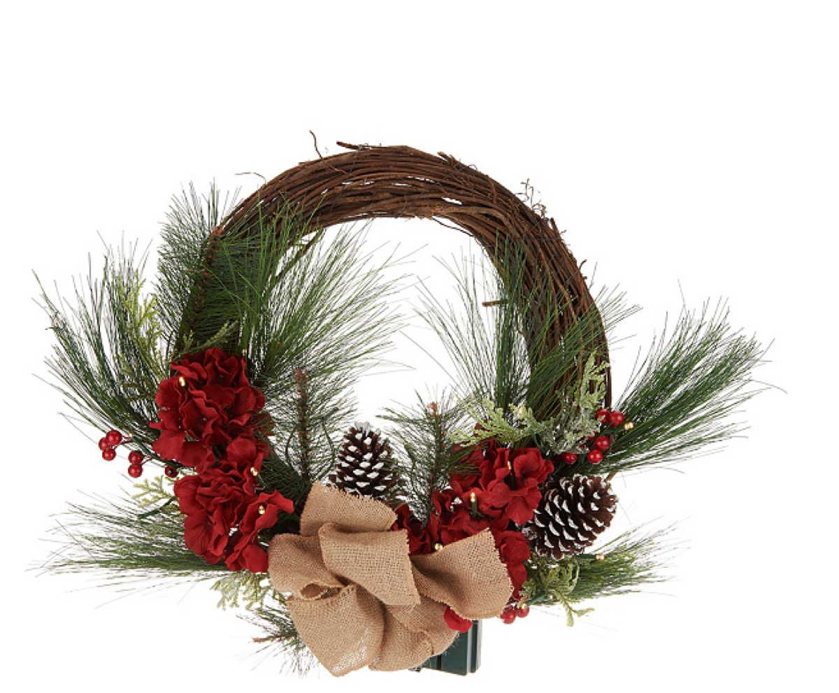 property brothers floral rattan wreath, celebrity homeware