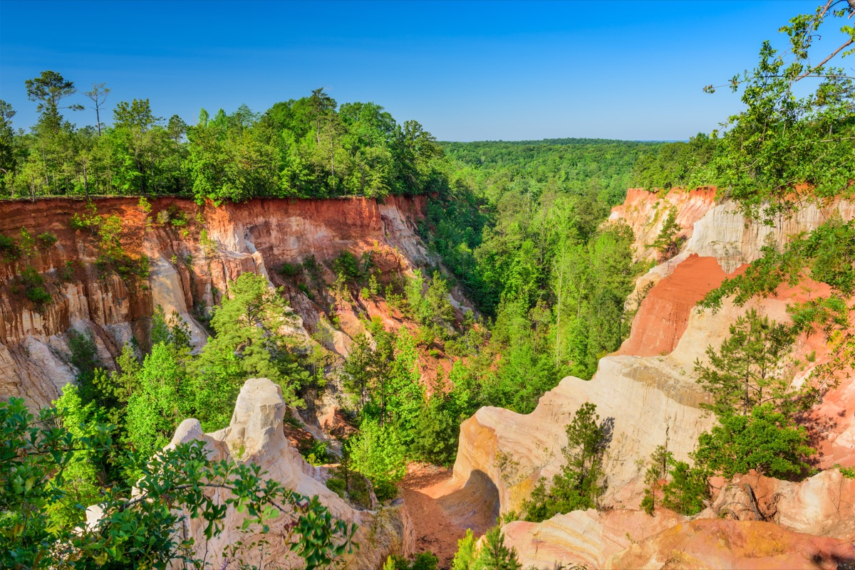 providence canyon georgia state natural wonders