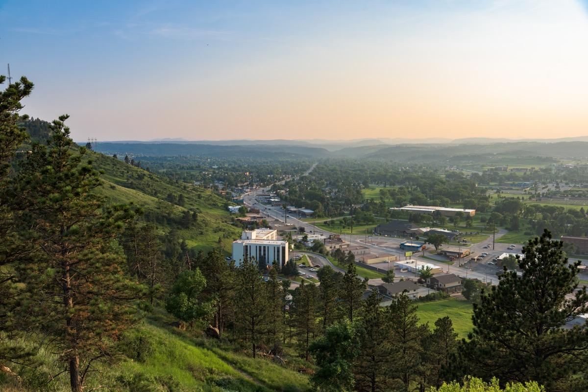 rapid city south dakota at dawn