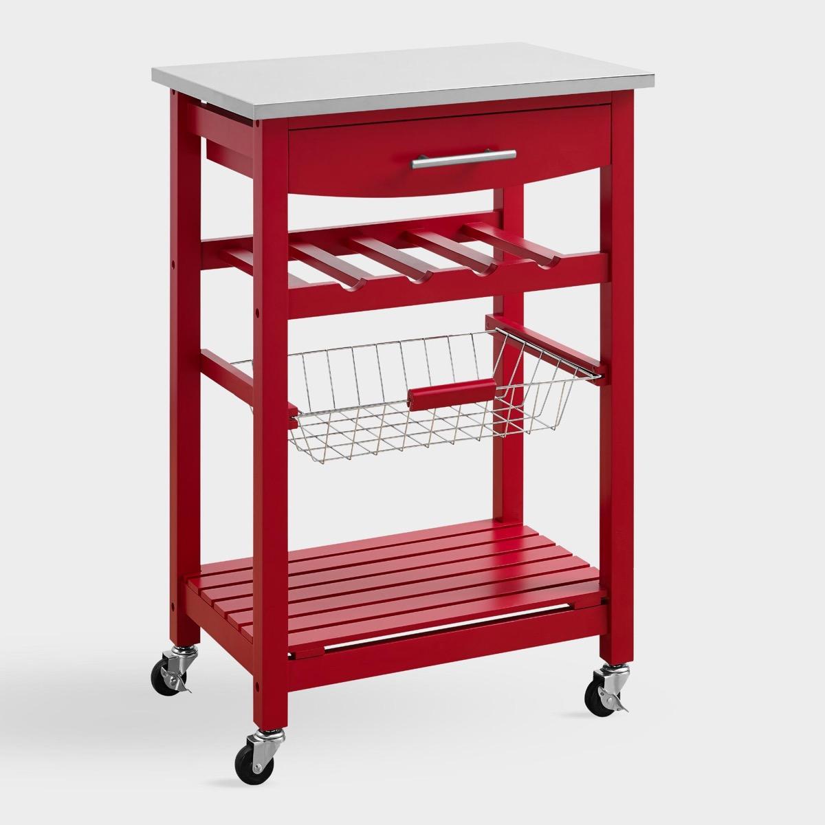 World Market Red Kitchen Island Storage Furniture