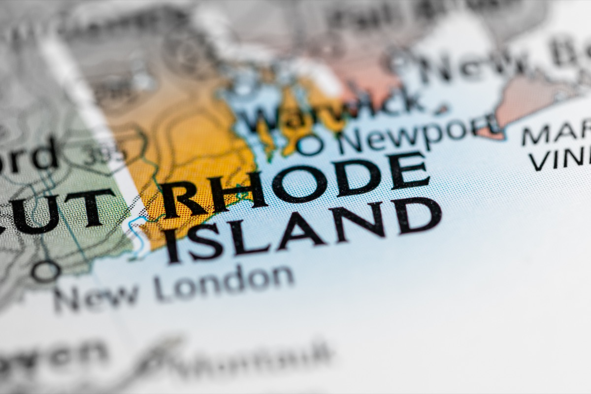 rhode island geographical map state natural wonders