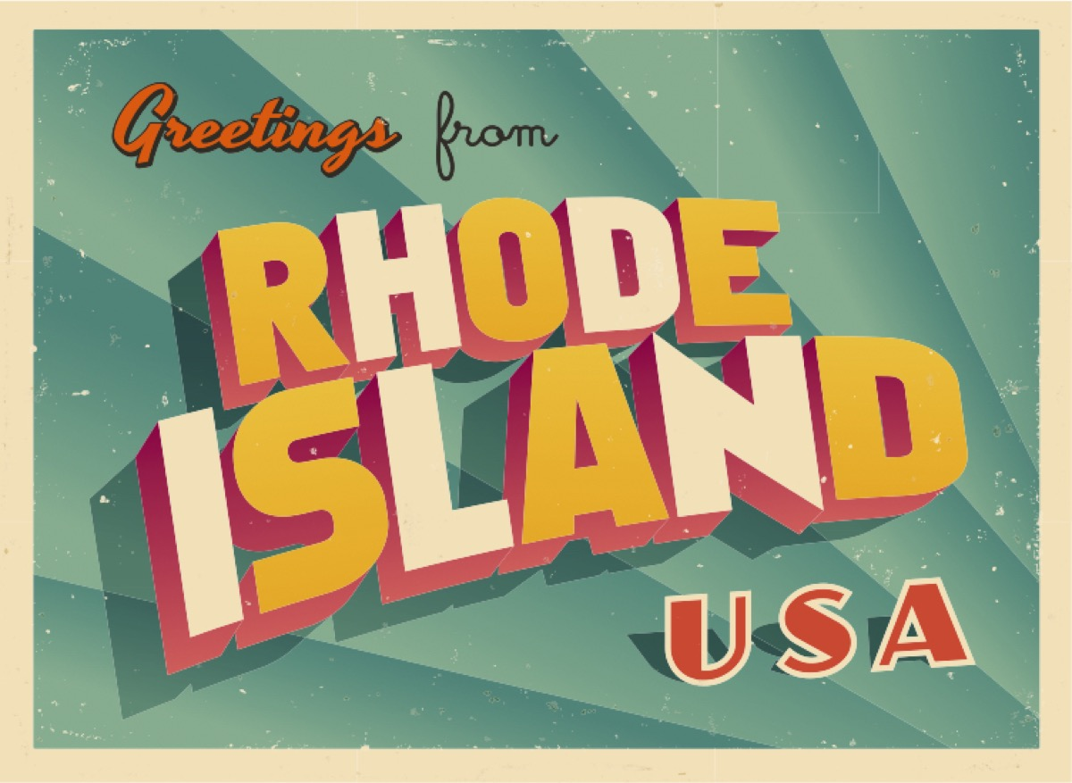 rhode island postcard famous state statues