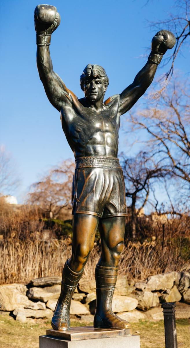 rocky balboa statue philadelphia pennsylvania famous state statues