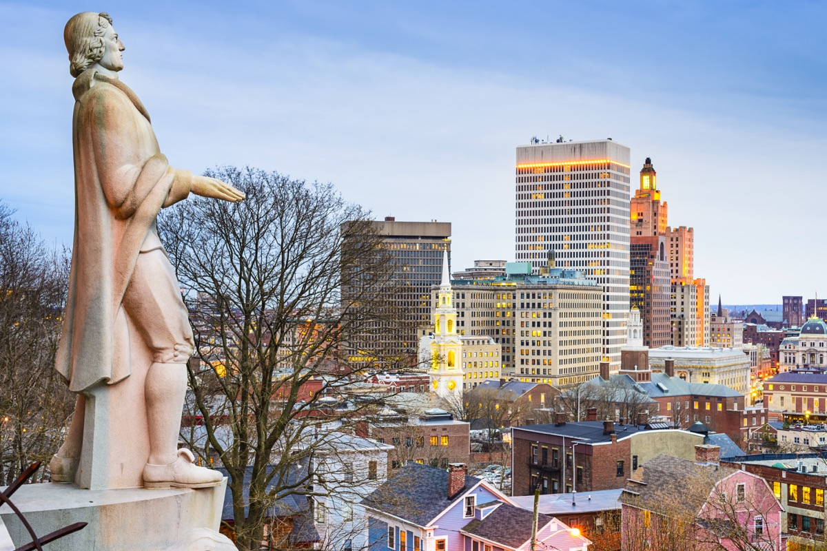 roger williams statue providence rhode island famous state statues