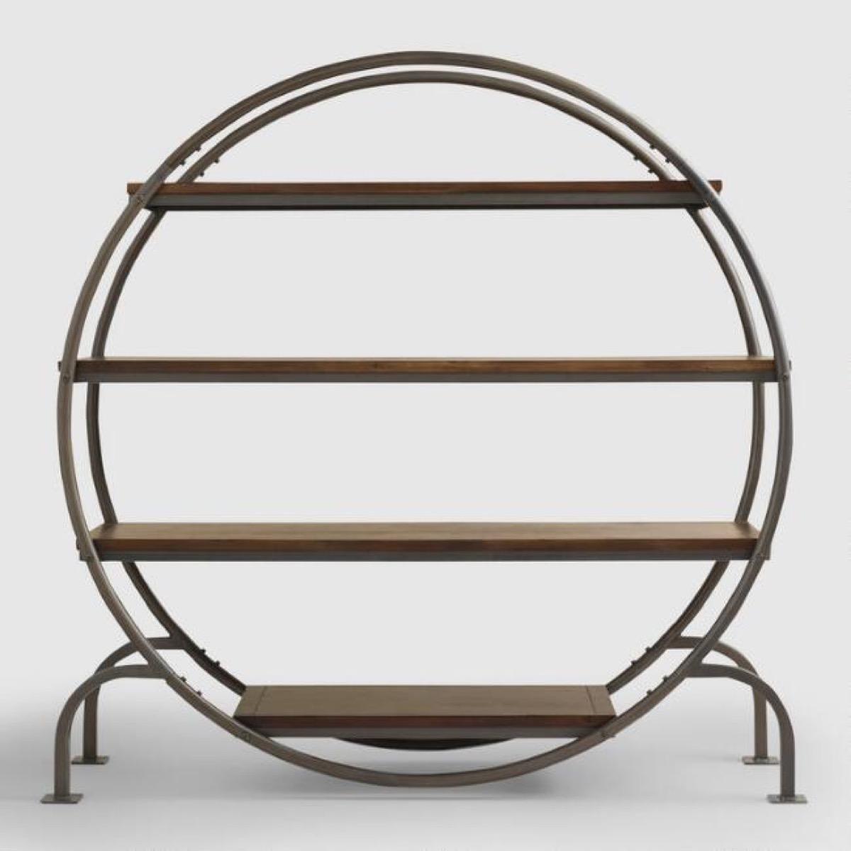 World Market Round Bookcase Storage Furniture