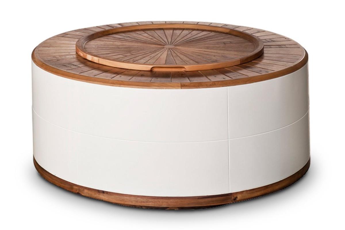 Apt2B Round Coffee Table Storage Furniture