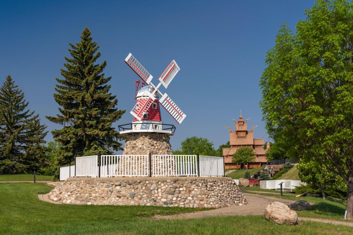 A Danish windmill at the Scandinavian Heritage Park, Minot, North Dakota