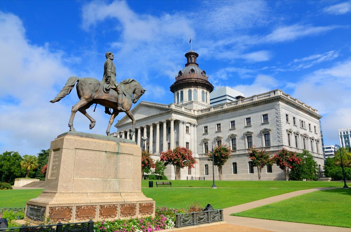 south carolina wade hampton III statue famous state statues