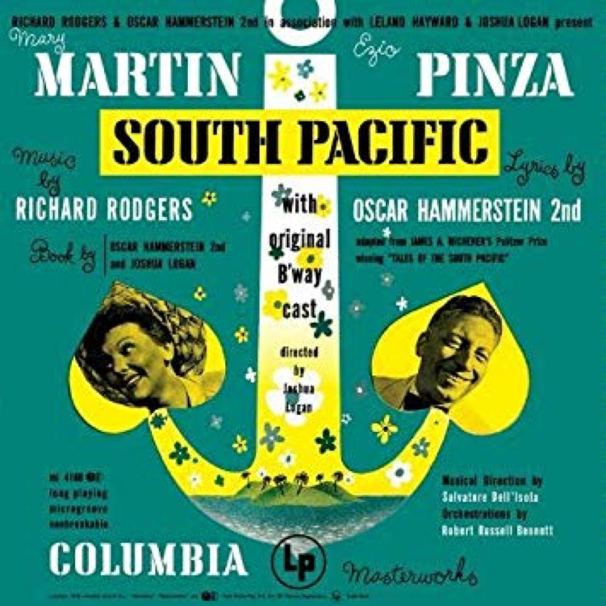 south pacific broadway cast recording
