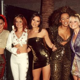 the spice girls at a hotel in las vegas in 1997