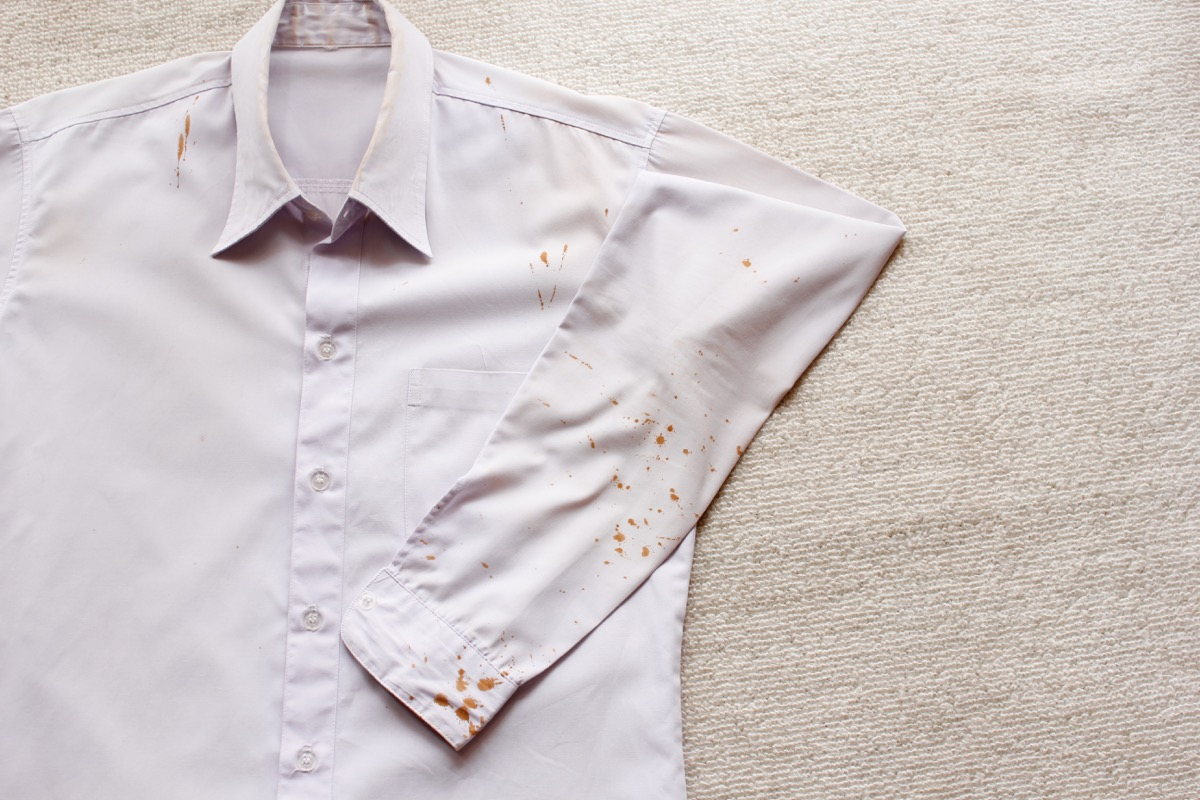 stained shirt, new uses for cleaning products