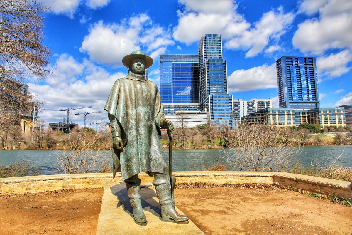 stevie ray vaughan statue austin texas famous state statues