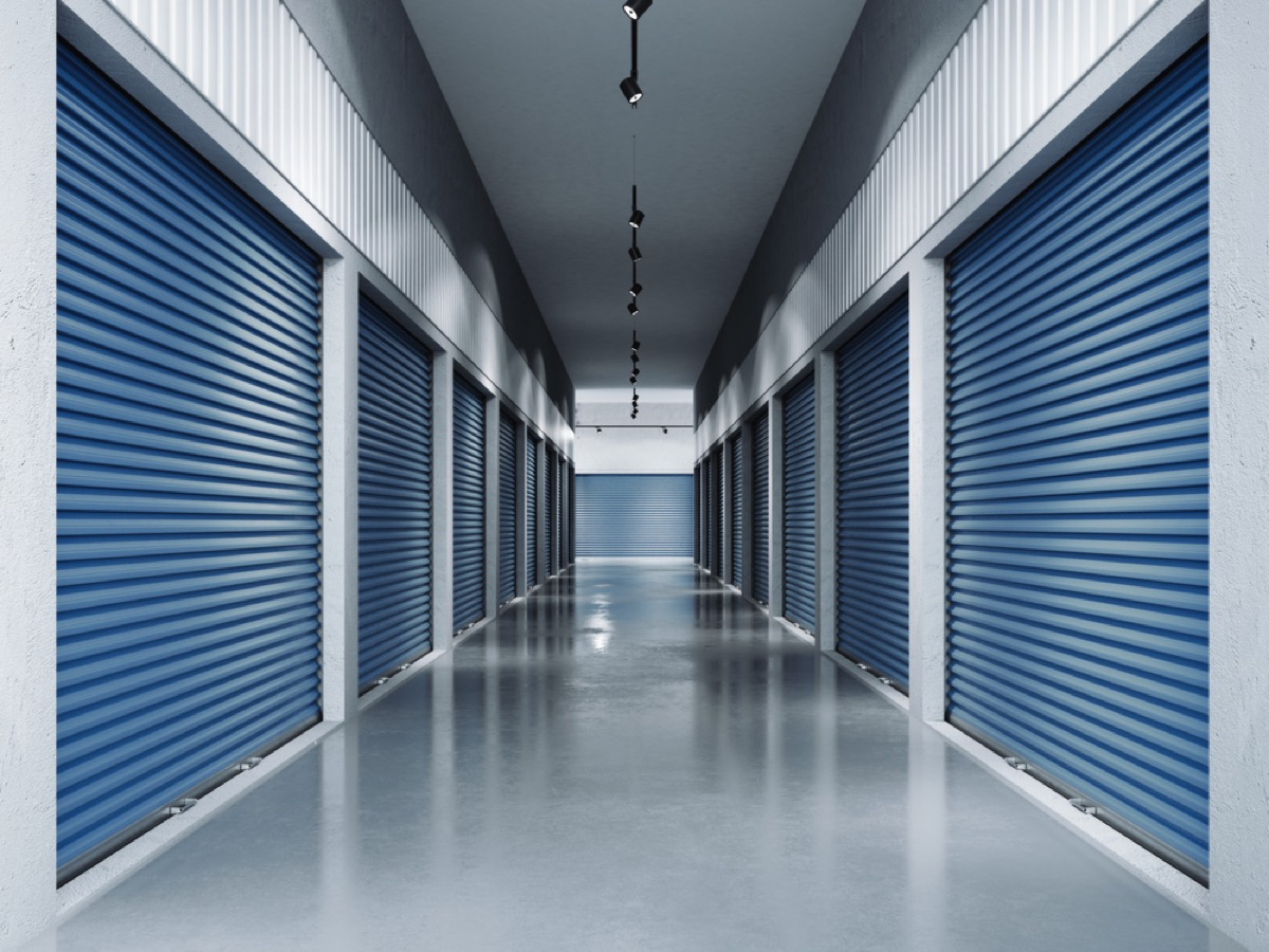 storage facility, downsizing your home