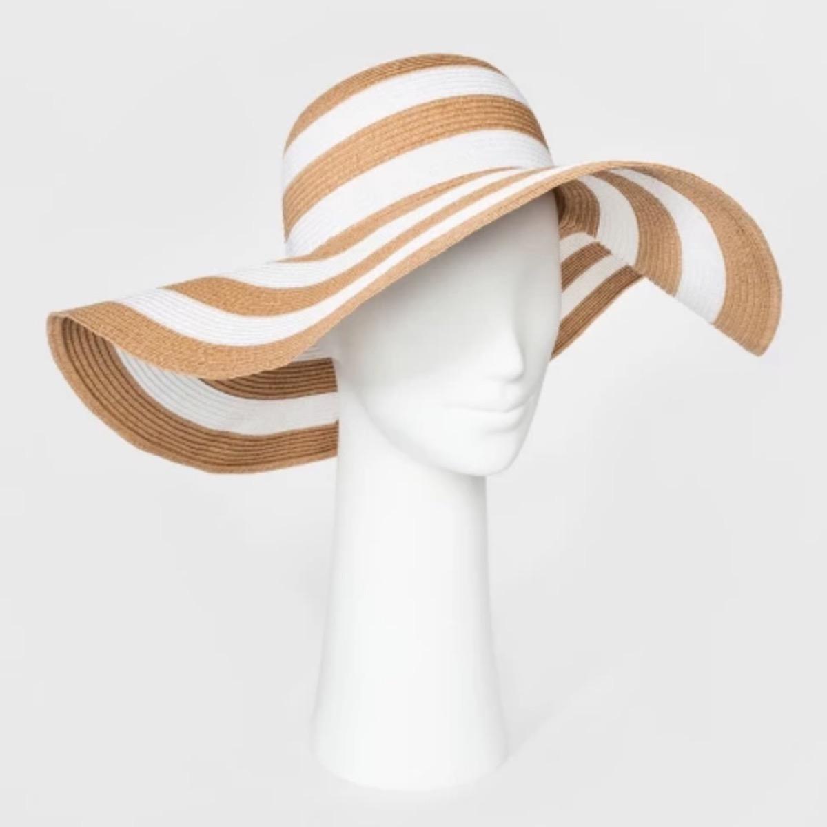 striped sun hat, target beach essentials