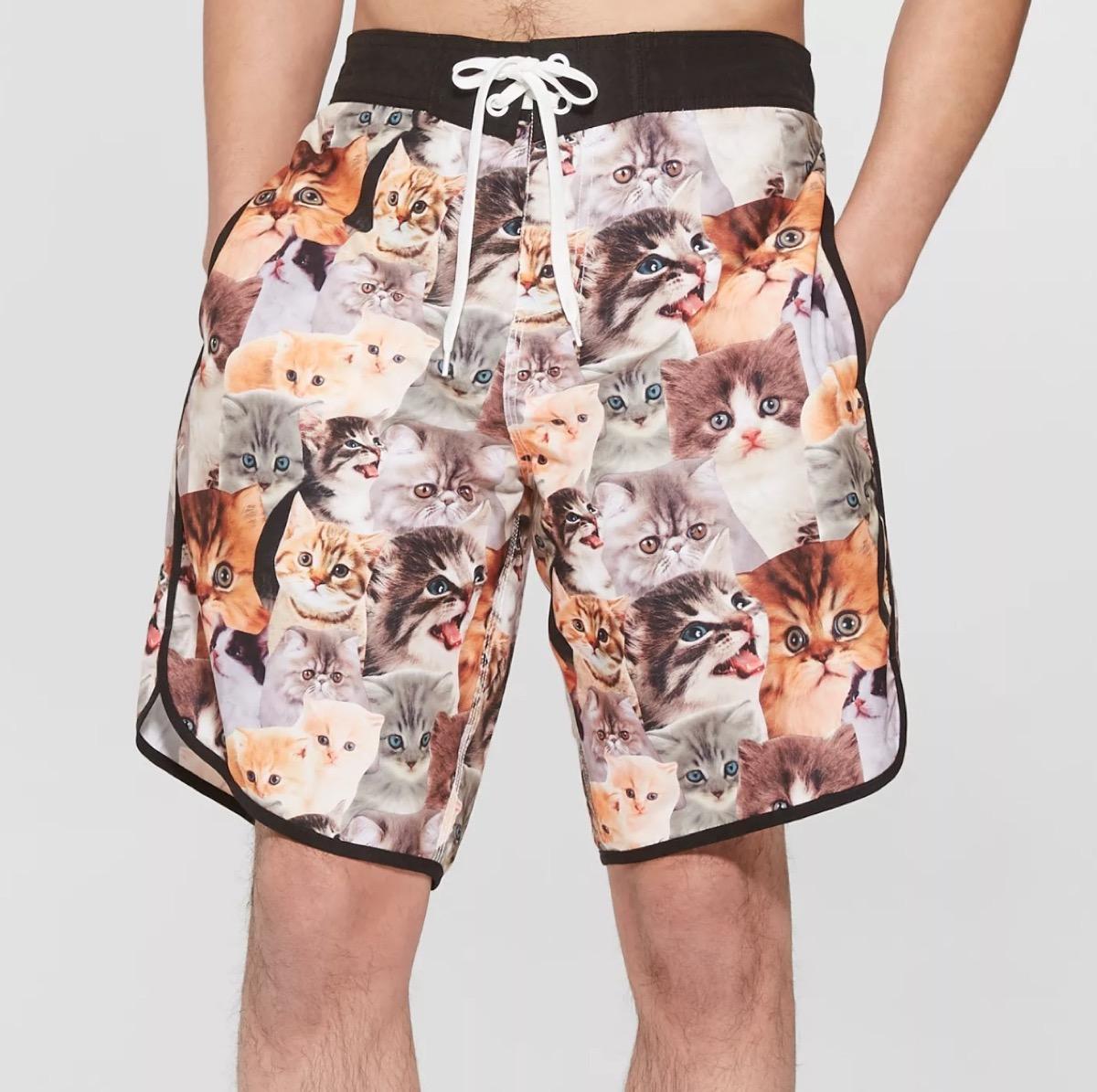 cat print board shorts, target beach essentials