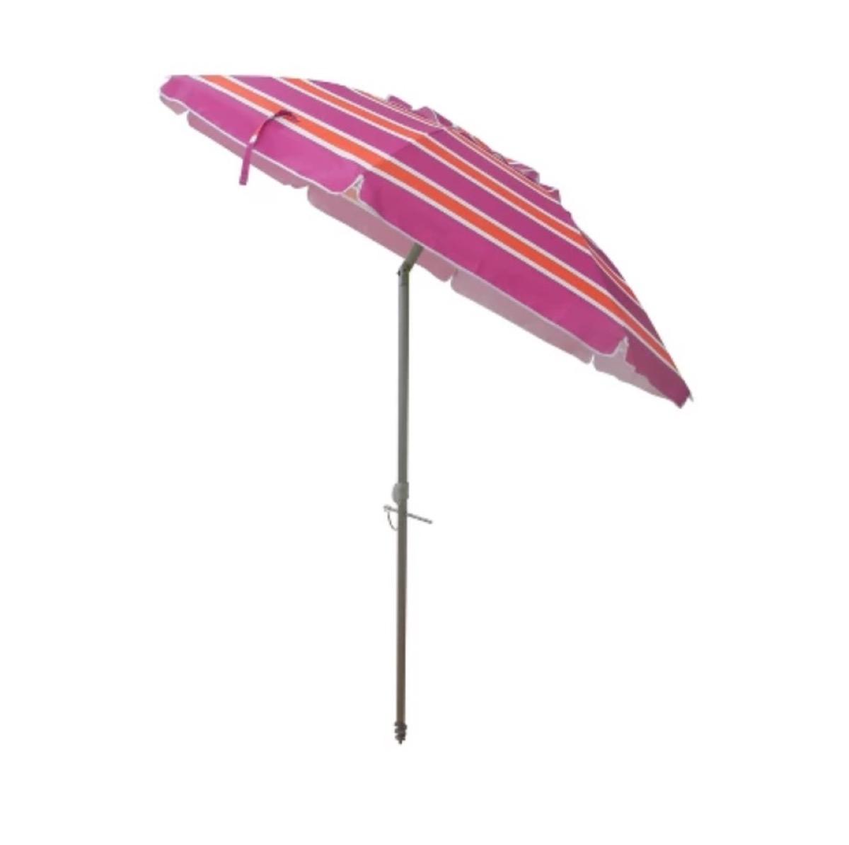 pink beach umbrella, target beach essentials