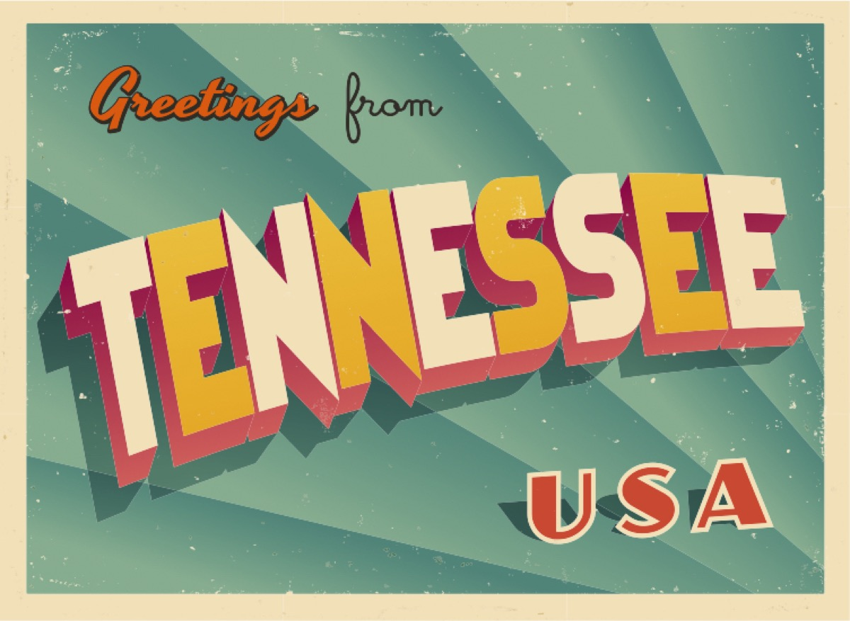 tennessee postcard famous state statues