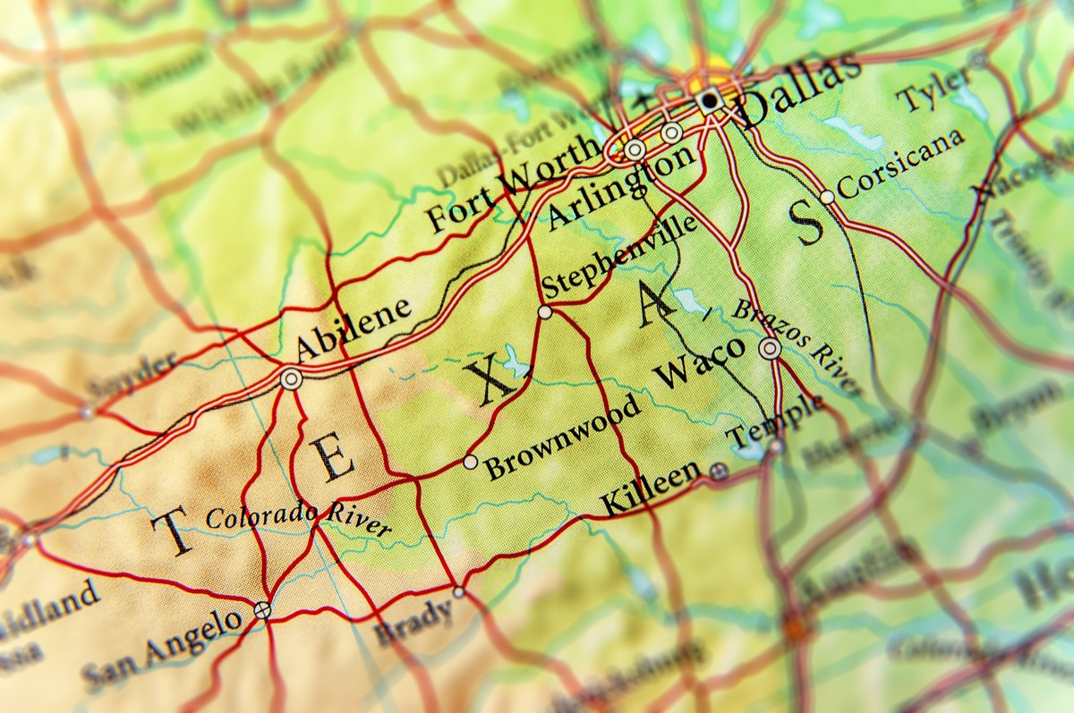 texas geographical map state natural wonders
