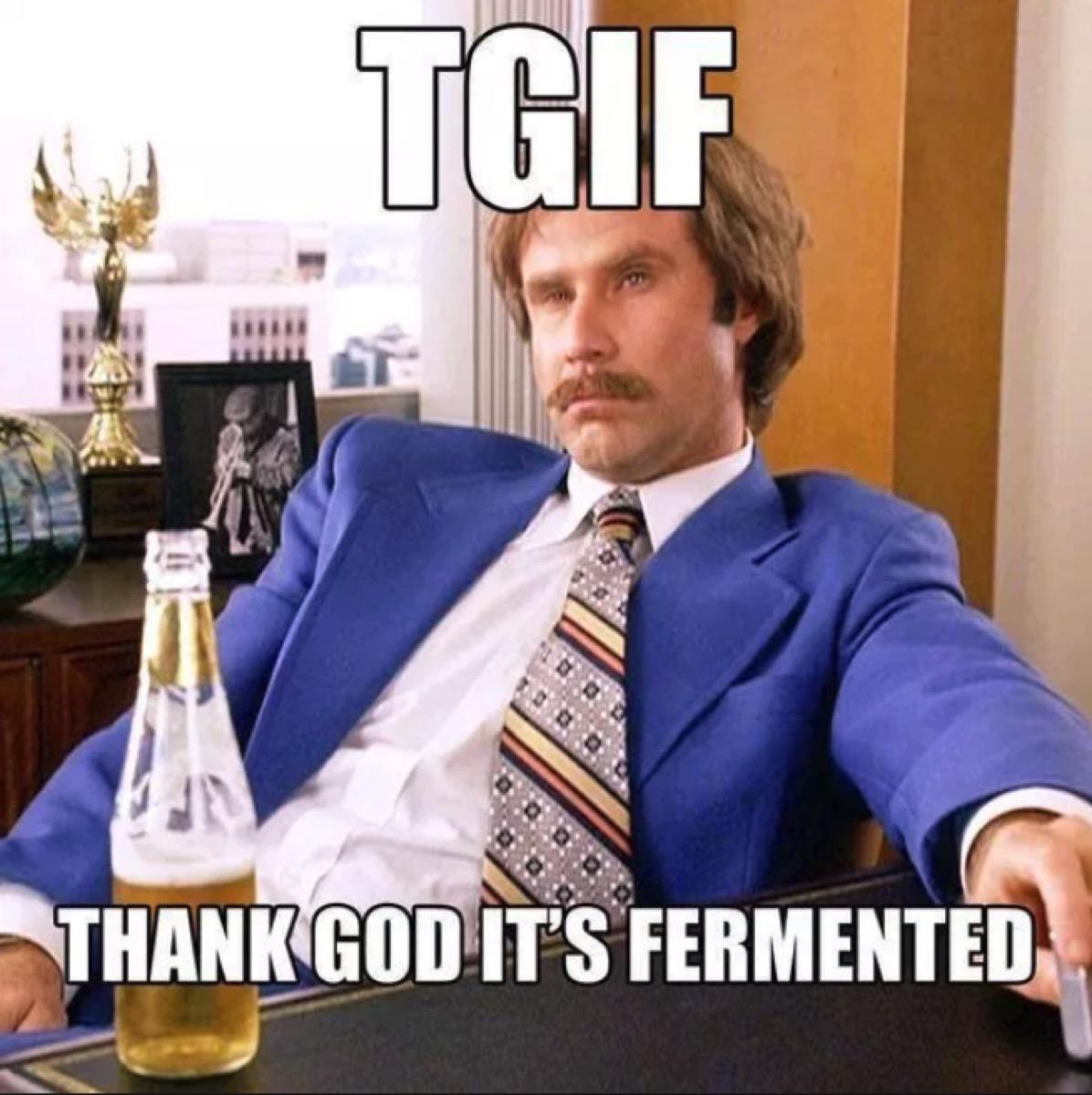 tgif meme thank god its fermented