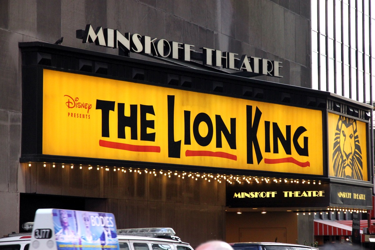 the lion king musical on broadway, 1998