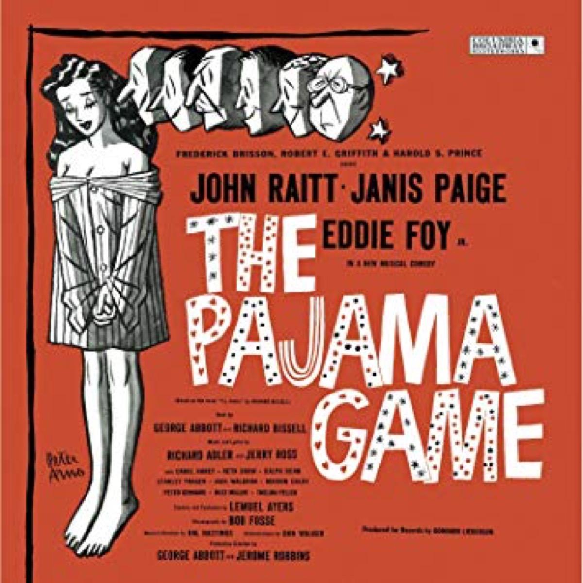 the pajama game cast recording broadway