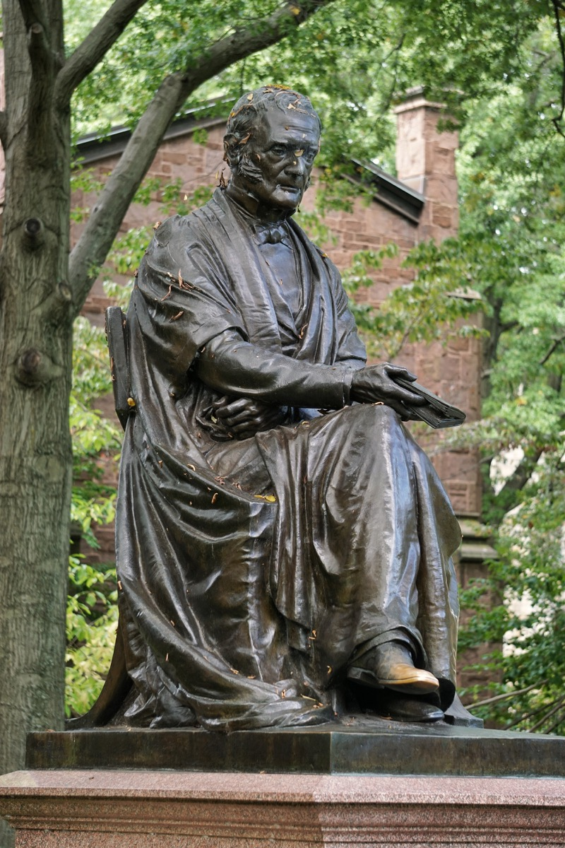 theodore dwight woolsey statue yale university connecticut famous state statues