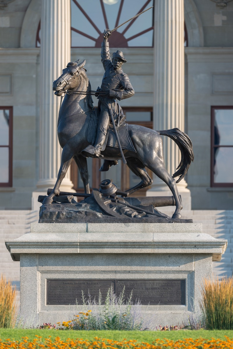 thomas francis meagher statue in montana famous state statues