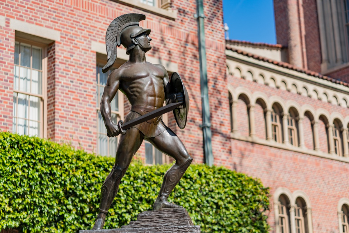 tommy trojan usc california statue famous state statues